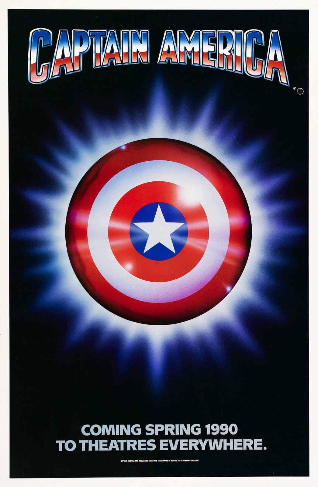 Captain America 1990 Movie Poster